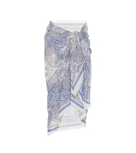 Exclusive to Mytheresa – Sarong cotton skirt