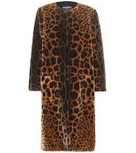 Cappotto animalier in velluto jacquard