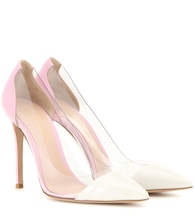 Plexi patent leather and transparent pumps