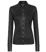 Garret leather blouse