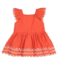 Baby cotton dress and bloomers
