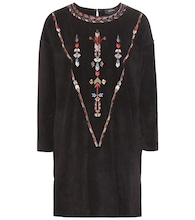 Maggy embroidered suede tunic