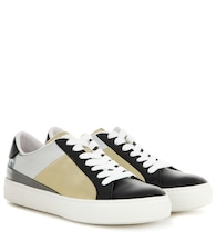 Metallic leather sneakers