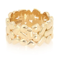 Mosaic Eternity 18kt gold ring