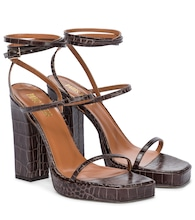 Bianca croc-effect leather sandals