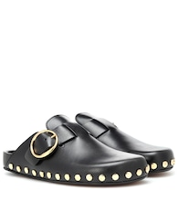 Mirvin studded leather slippers