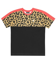 Leopard-print cotton jersey T-shirt