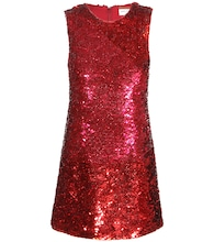 Sequin silk dress