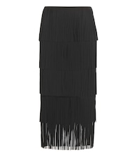 Fringed midi skirt