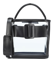 Devon leather and PVC bucket bag