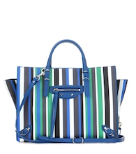 Papier A6 Zip Around striped leather shoulder bag