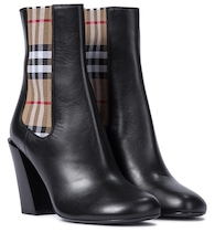 Vintage Check leather ankle boots