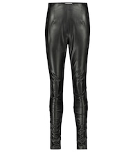 Sleek Performance faux leather skinny pants