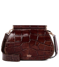 Sylvi Small croc-effect leather clutch