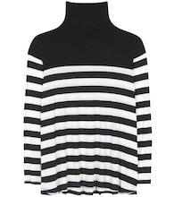Aretha striped tutleneck top