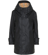 Technical hooded coat