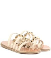 Niki Shells leather sandals