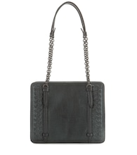 Intrecciato lizard leather shoulder bag