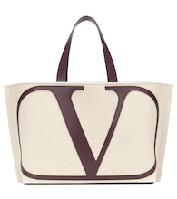 Valentino Garavani VLOGO Large canvas shopper