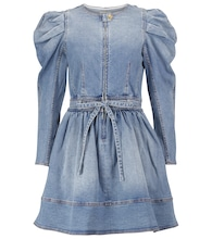 Domino denim minidress