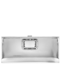 Pilgrim Small embellished metallic leather clutch