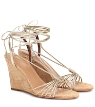 Whisper 85 leather wedge sandals