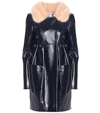 Locket faux leather coat