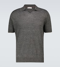 Fine knitted polo shirt