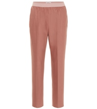 Wool and cashmere-blend pants