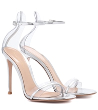 G-String metallic leather sandals