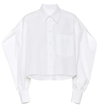 Valentino cotton-poplin blouse