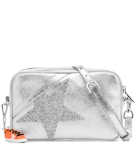 Star metallic leather shoulder bag