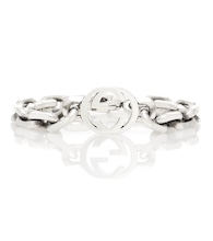 Interlocking G silver bracelet