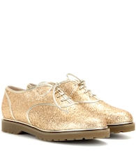 Stefania glitter-embellished Oxford shoes