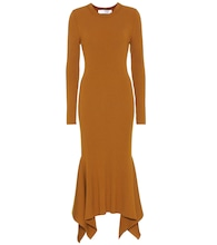 Ribbed virgin wool dress