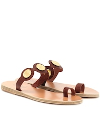 Evelina Coin leather sandals
