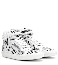 mytheresa.com exclusive printed leather high-top sneakers