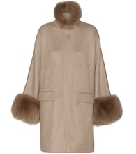 Anouk cashmere and fox fur coat