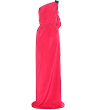 Vere one-shoulder draped silk crêpe gown