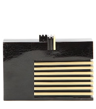 mytheresa.com exclusive Klein shell box clutch