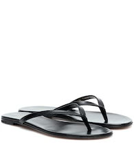 Calypso leather thong sandals