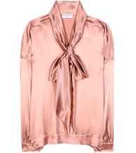 Satin silk blouse