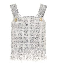 Bouclé crop top
