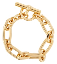 Small Double Link 18kt gold-plated necklace