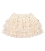 Sosso embroidered tulle skirt