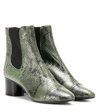 Danae printed leather ankle boots