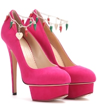 Plateaupumps Hot Dolly aus Veloursleder
