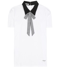 Collared cotton T-shirt