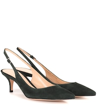 Jackie suede sling-back pumps