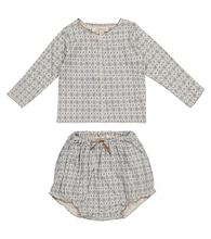Baby Dottback top and bloomers set